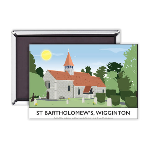 St Bartholomews Church, Wiggington, Hertfordshire Magnet
