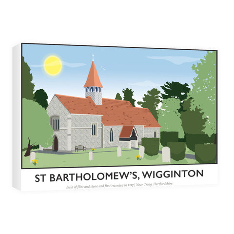 St Bartholomews Church, Wiggington, Hertfordshire 60cm x 80cm Canvas