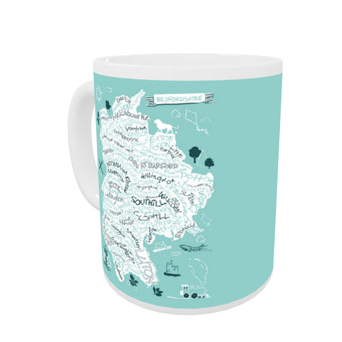 County Map of Bedfordshire, Mug