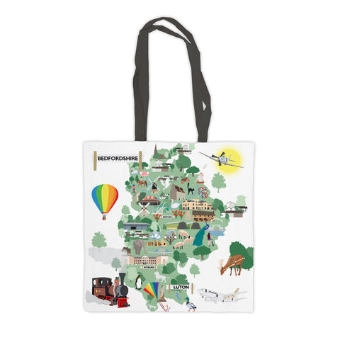 County Map of Bedfordshire, Premium Tote Bag