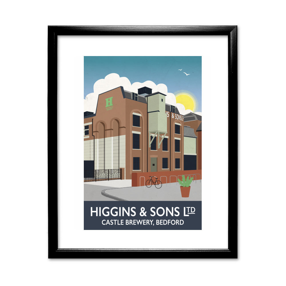 Higgins and Sons, Bedford 11x14 Framed Print (Black)