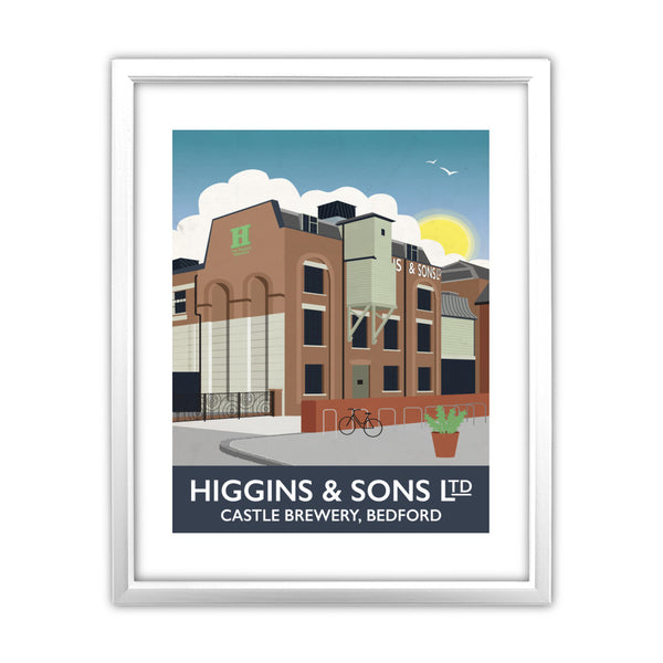 Higgins and Sons, Bedford 11x14 Framed Print (White)