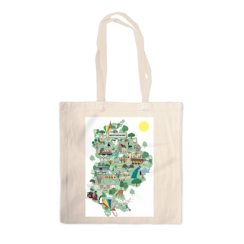 Bedfordshire Canvas Tote Bag