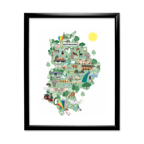 Bedfordshire 11x14 Framed Print (Black)