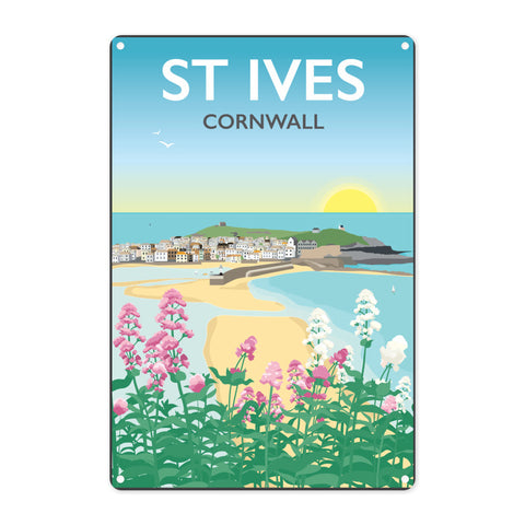St Ives, Cornwall Metal Sign