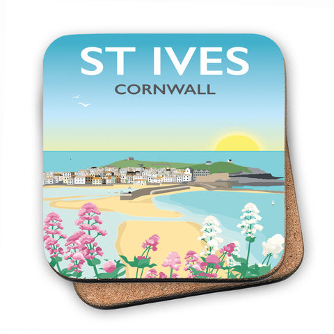 St Ives, Cornwall MDF Coaster