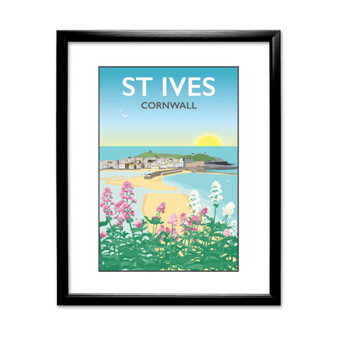 St Ives, Cornwall 11x14 Framed Print (Black)