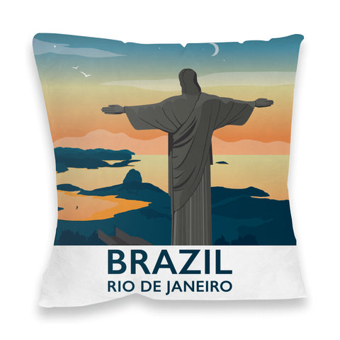 Rio De Janiero, Brazil Fibre Filled Cushion