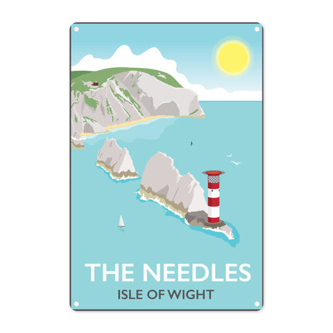 The Needles, Isle of Wight Metal Sign