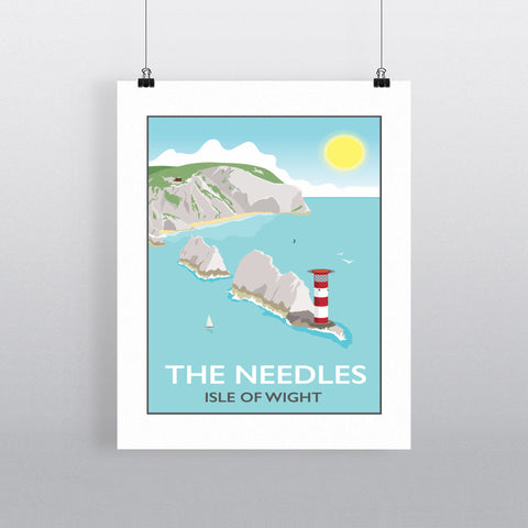The Needles, Isle of Wight 90x120cm Fine Art Print