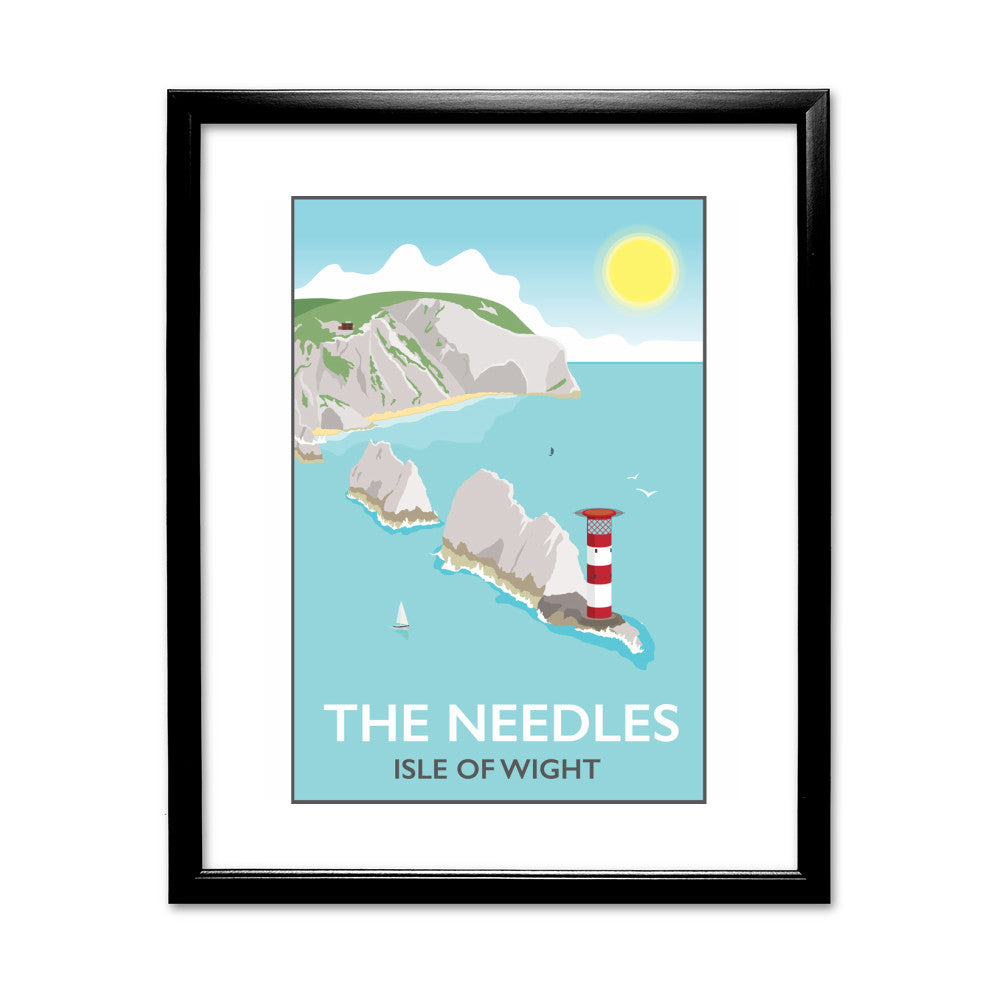 The Needles, Isle of Wight 11x14 Framed Print (Black)