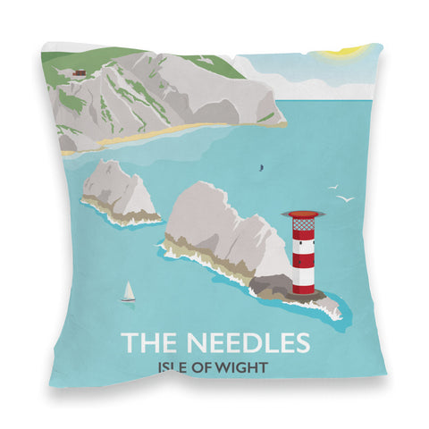 The Needles, Isle of Wight Fibre Filled Cushion