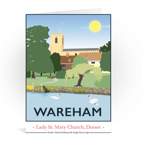 Wareham, Dorset Greeting Card 7x5