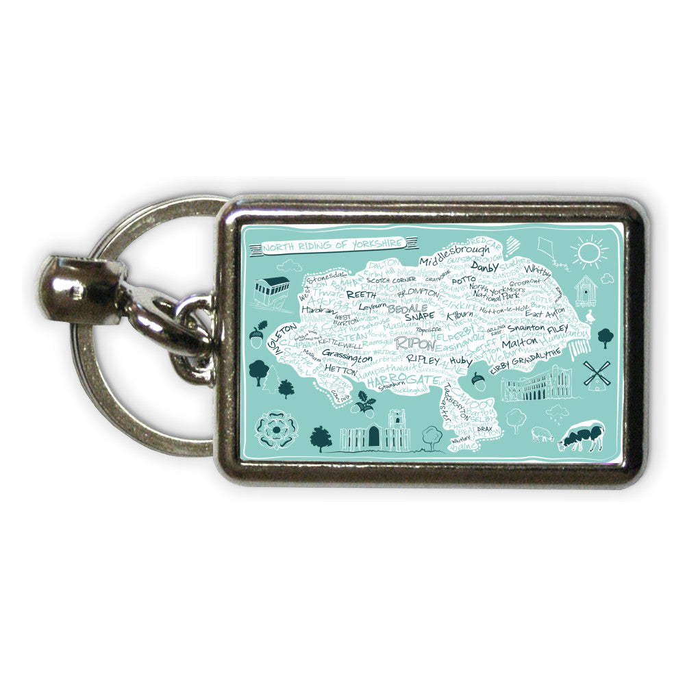 Map of the North Riding of Yorkshire, Metal Keyring