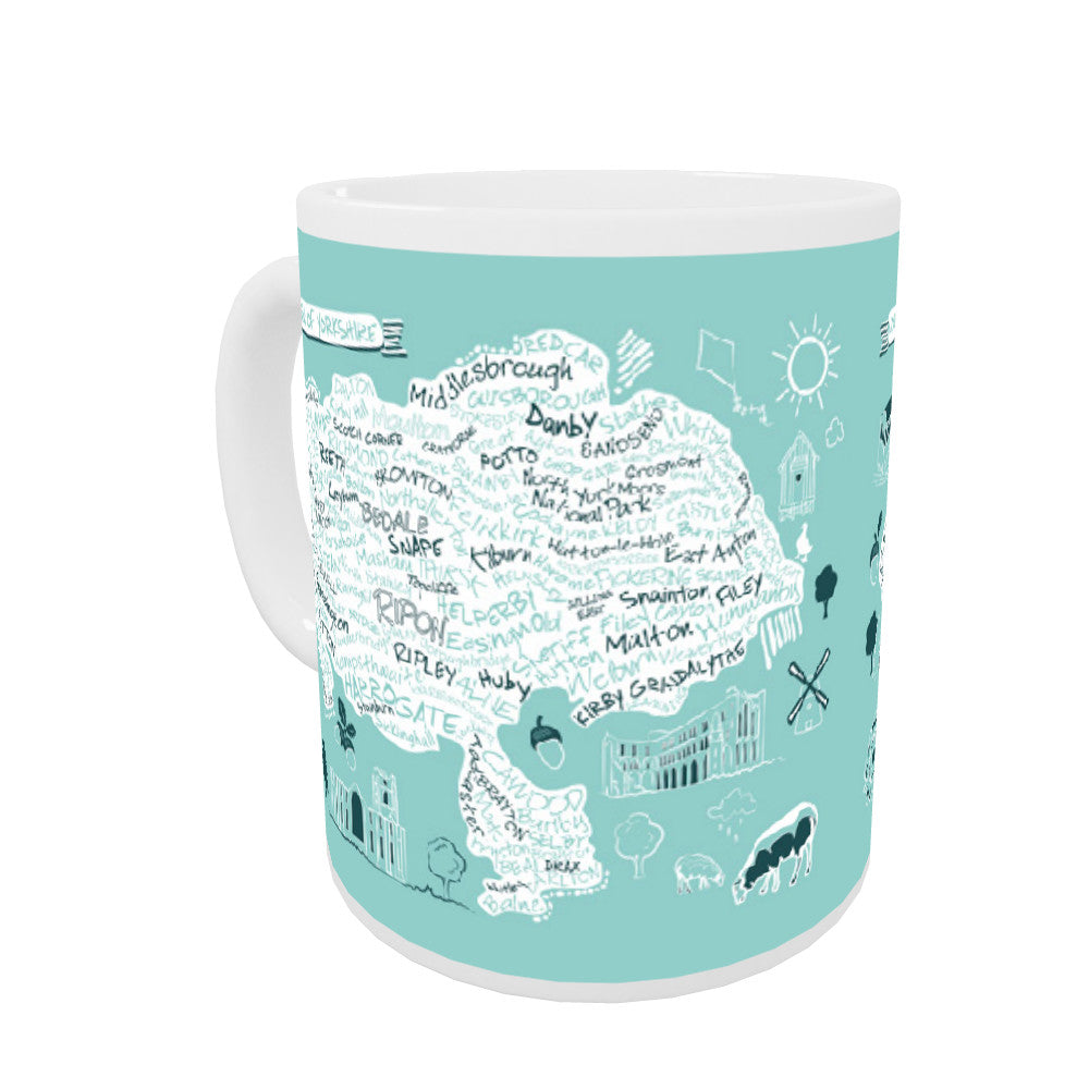 Map of the North Riding of Yorkshire, Coloured Insert Mug