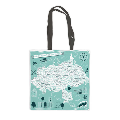 Map of the North Riding of Yorkshire, Premium Tote Bag