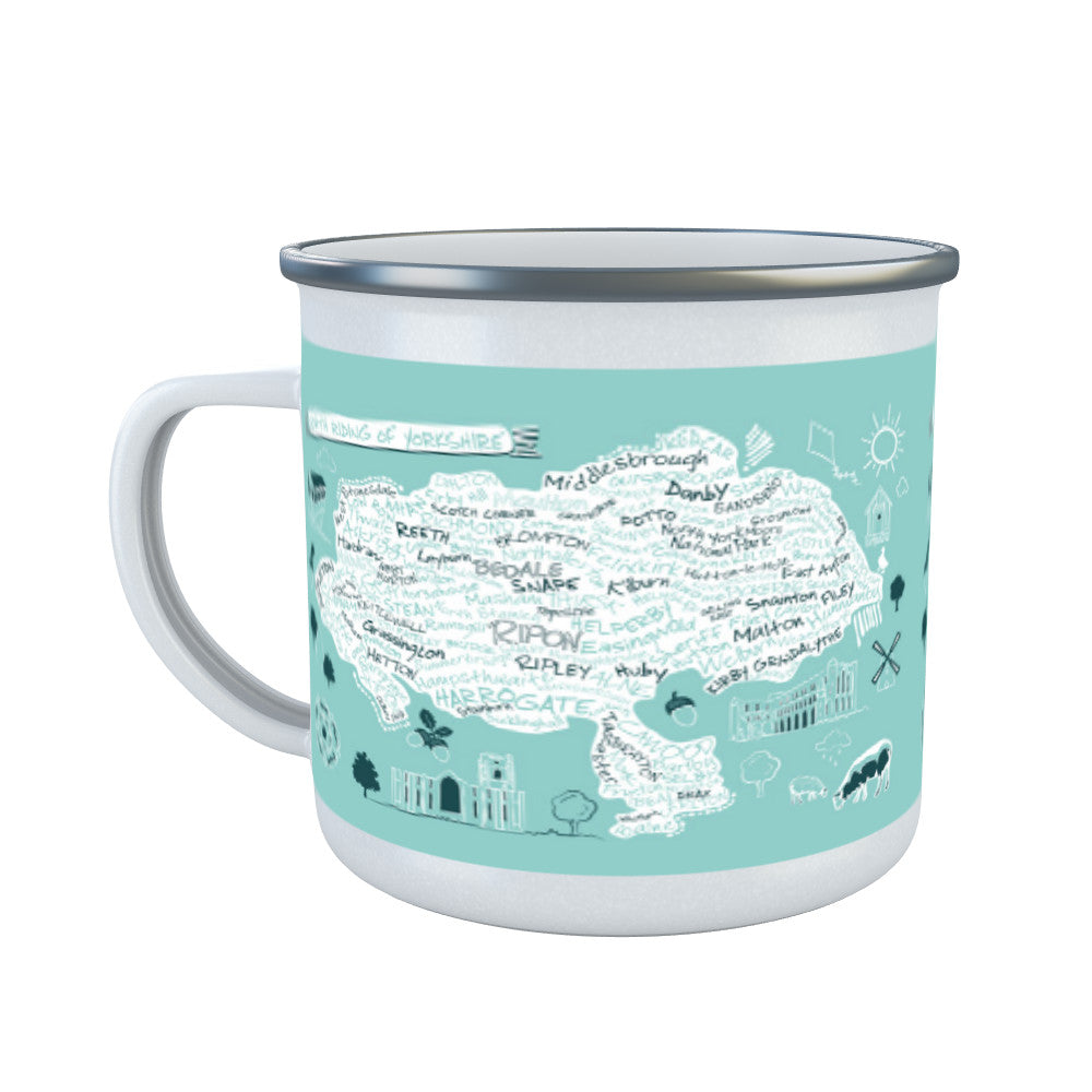Map of the North Riding of Yorkshire, Enamel Mug