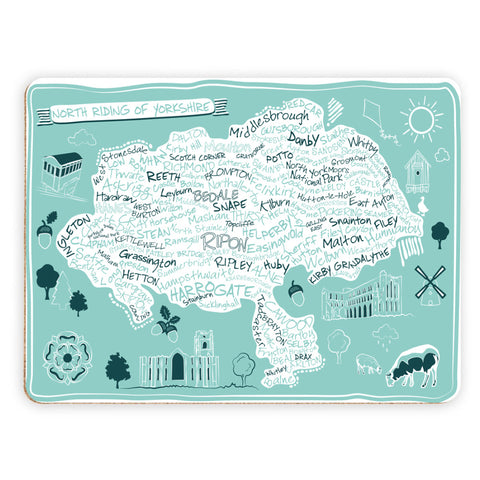 Map of the North Riding of Yorkshire, Placemat