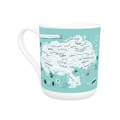 Map of the North Riding of Yorkshire, Bone China Mug