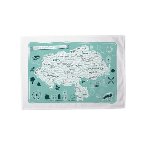 Map of the North Riding of Yorkshire, Tea Towel