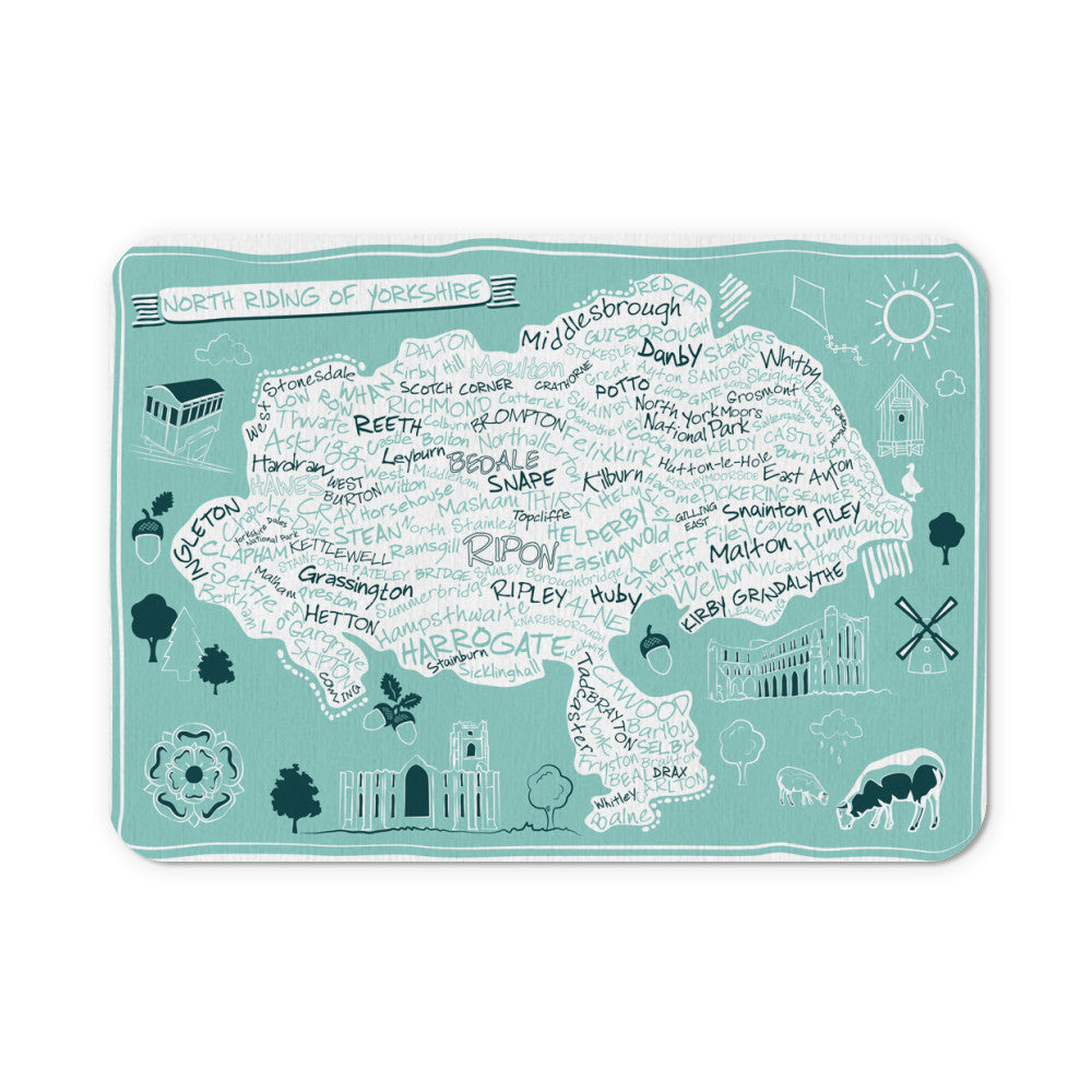 Map of the North Riding of Yorkshire, Mouse mat
