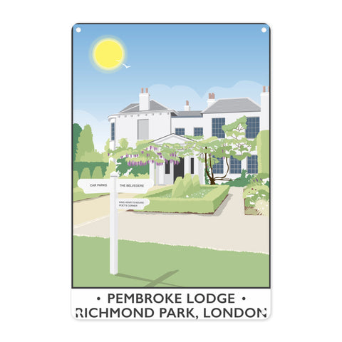 Pembroke Lodge, Richmond Park, London Metal Sign
