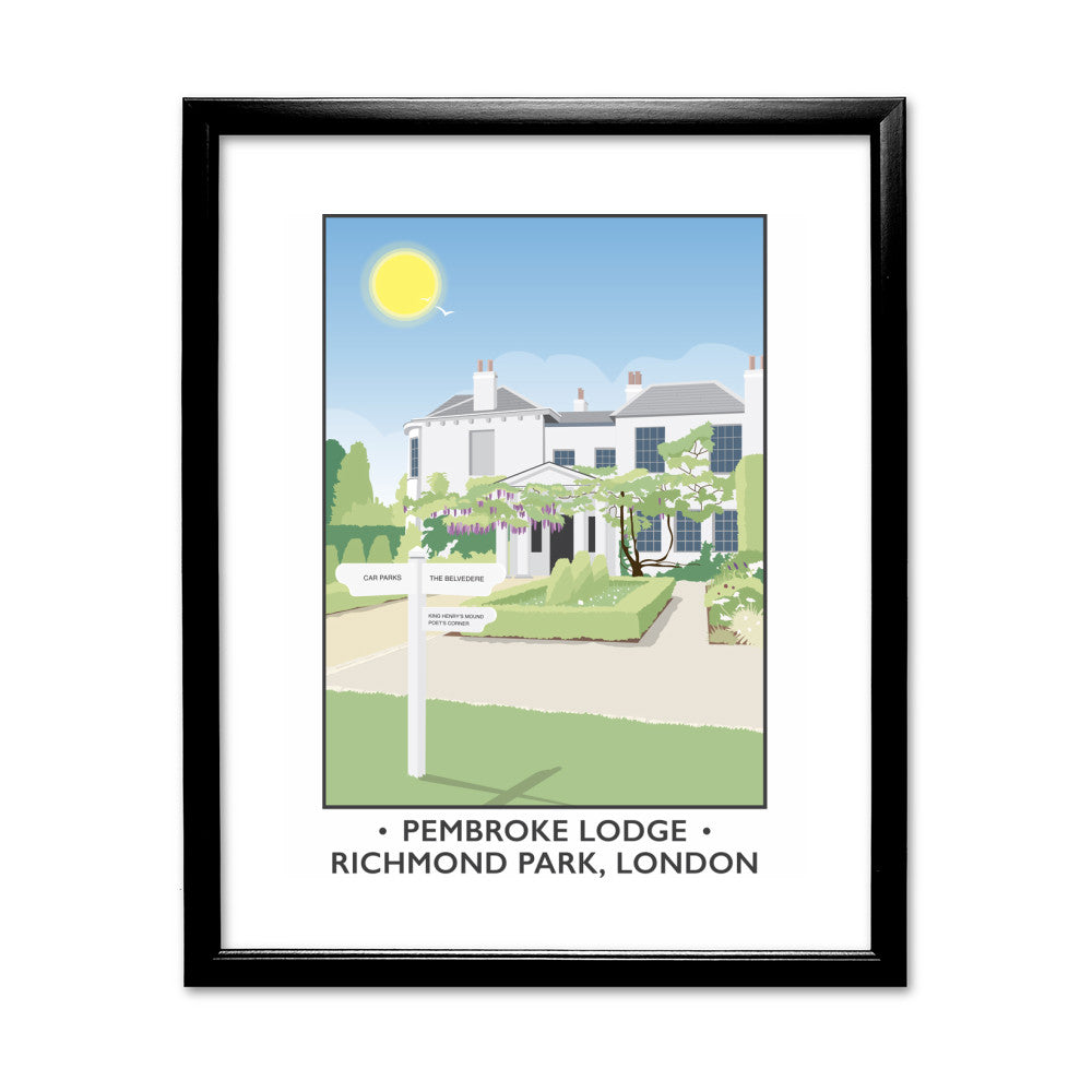 Pembroke Lodge, Richmond Park, London 11x14 Framed Print (Black)