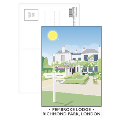 Pembroke Lodge, Richmond Park, London Postcard Pack