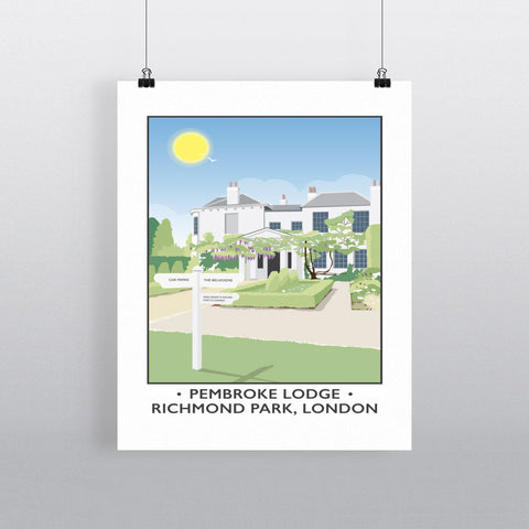 Pembroke Lodge, Richmond Park, London 90x120cm Fine Art Print