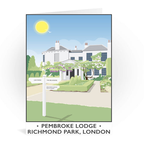 Pembroke Lodge, Richmond Park, London Greeting Card 7x5