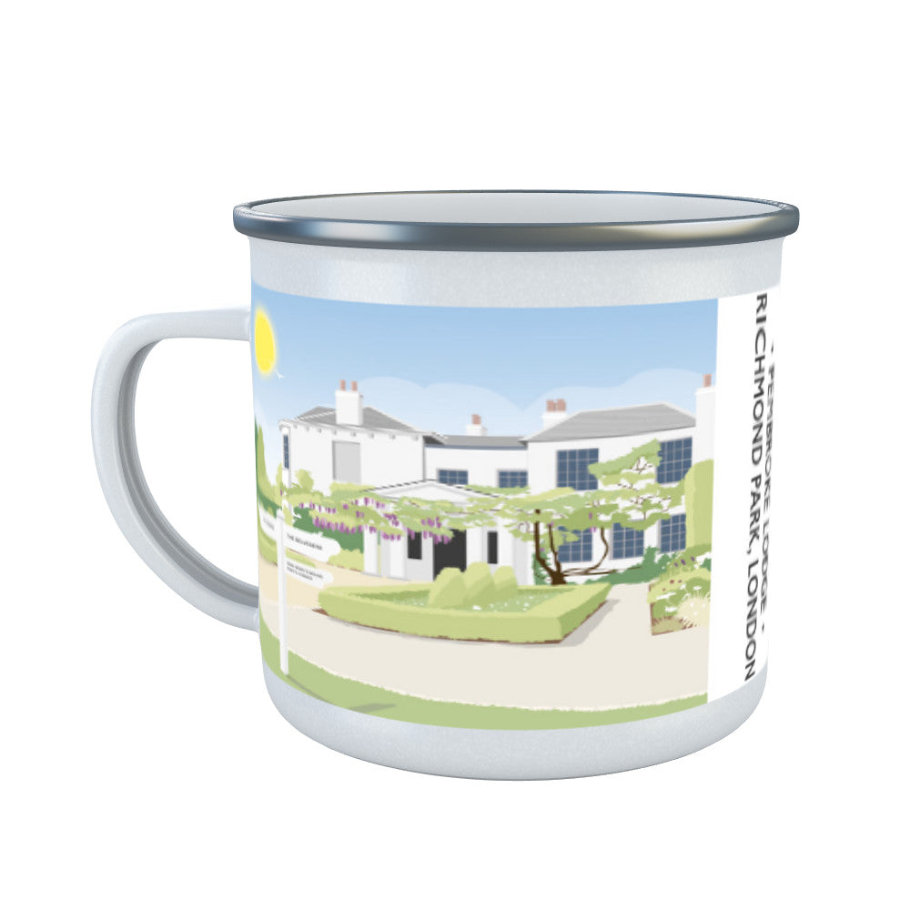 Pembroke Lodge, Richmond Park, London Enamel Mug