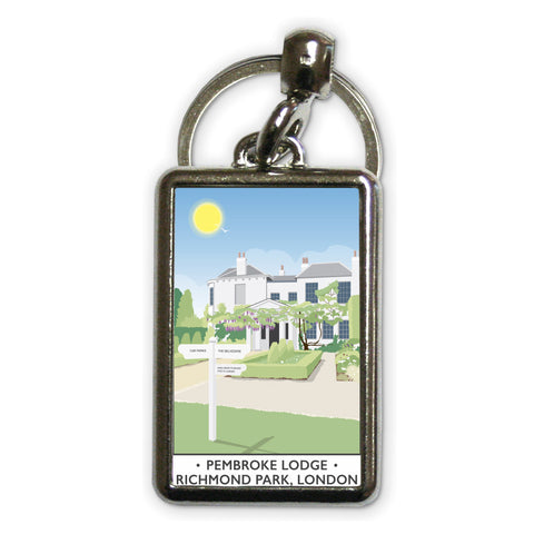 Pembroke Lodge, Richmond Park, London Metal Keyring