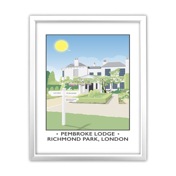 Pembroke Lodge, Richmond Park, London 11x14 Framed Print (White)