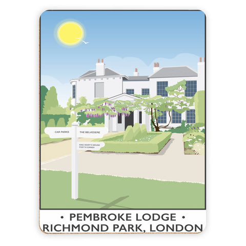 Pembroke Lodge, Richmond Park, London Placemat