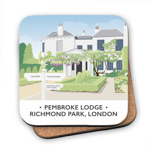 Pembroke Lodge, Richmond Park, London MDF Coaster
