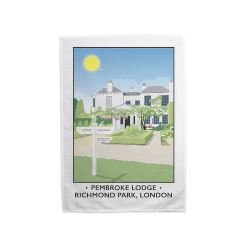 Pembroke Lodge, Richmond Park, London Tea Towel