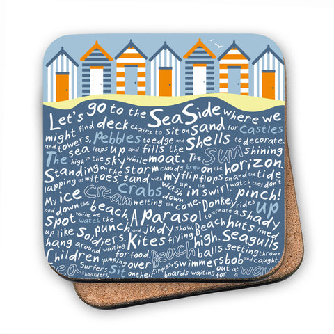 Beach Huts, MDF Coaster