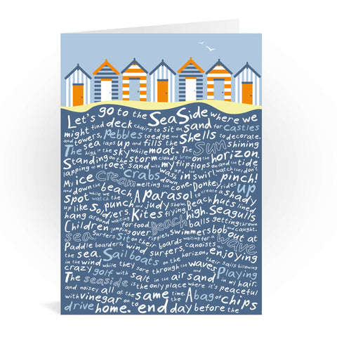 Beach Huts, Greeting Card 7x5