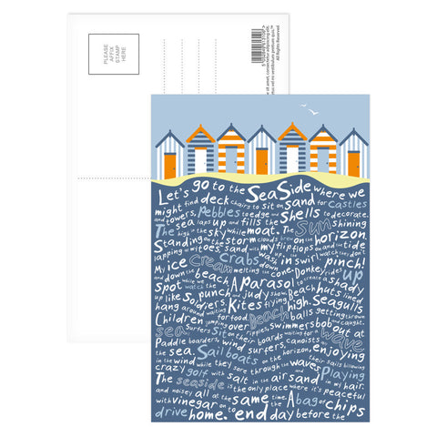 Beach Huts, Postcard Pack