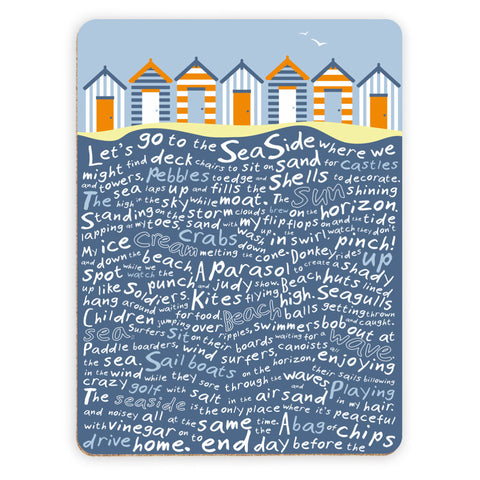 Beach Huts, Placemat