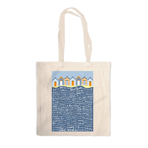 Beach Huts, Canvas Tote Bag