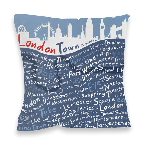 London Town, Fibre Filled Cushion