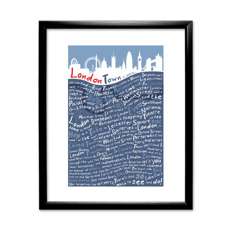 London Town, 11x14 Framed Print (Black)