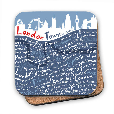 London Town, MDF Coaster