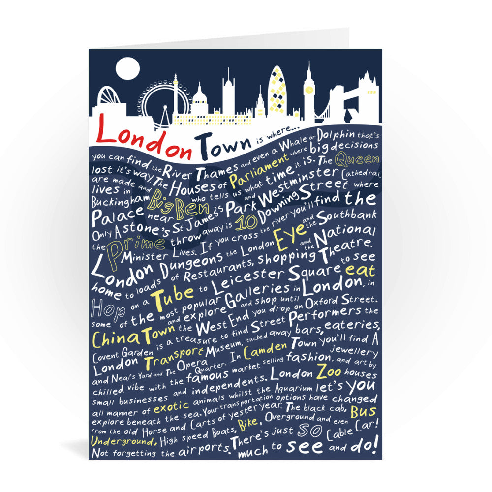 London Town, Greeting Card 7x5