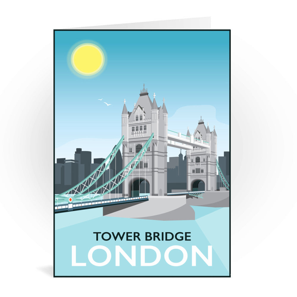 Tower Bridge, London Greeting Card 7x5