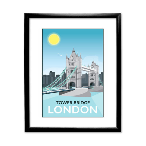 Tower Bridge, London 11x14 Framed Print (Black)