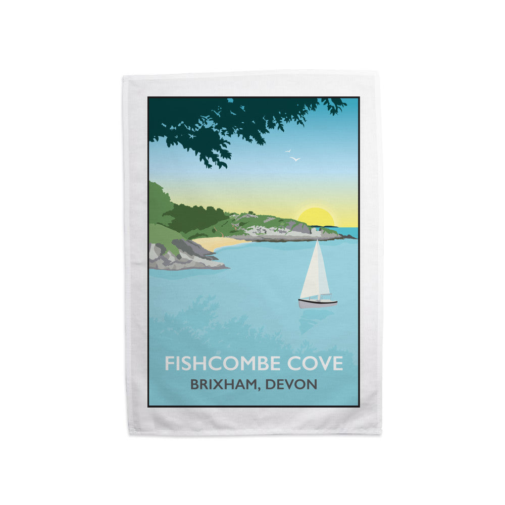 Fishcombe Cove, Brixham Tea Towel