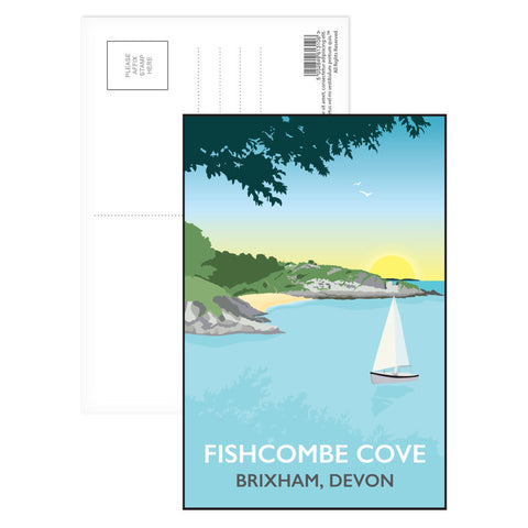 Fishcombe Cove, Brixham Postcard Pack