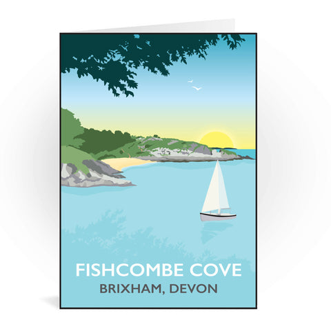 Fishcombe Cove, Brixham Greeting Card 7x5